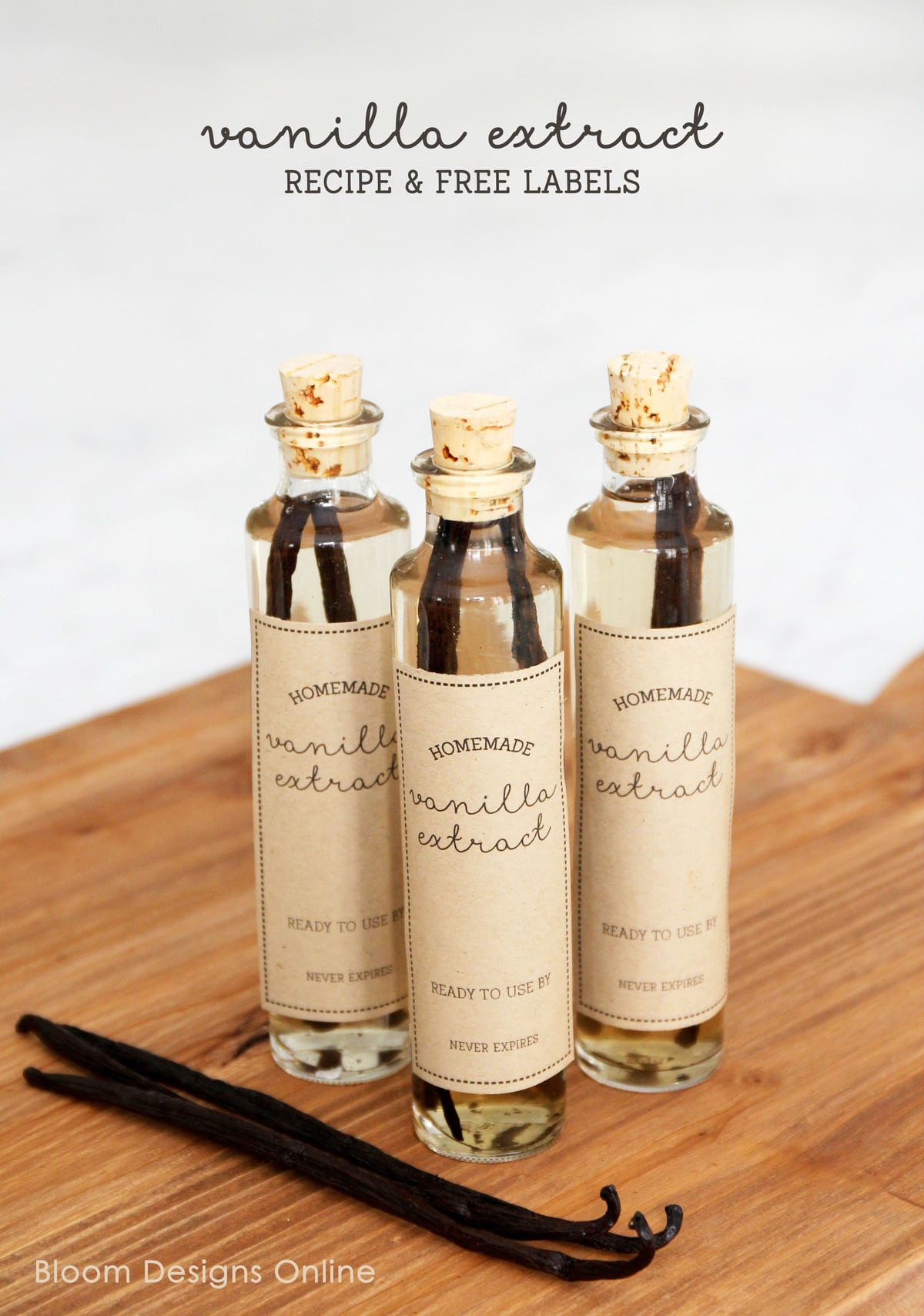 Homemade Vanilla Extract and gift idea. Such a simple and yummy ...