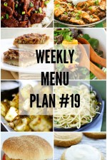 Weekly Menu Plan 19