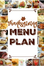 Thanksgiving Menu Plan – 2015