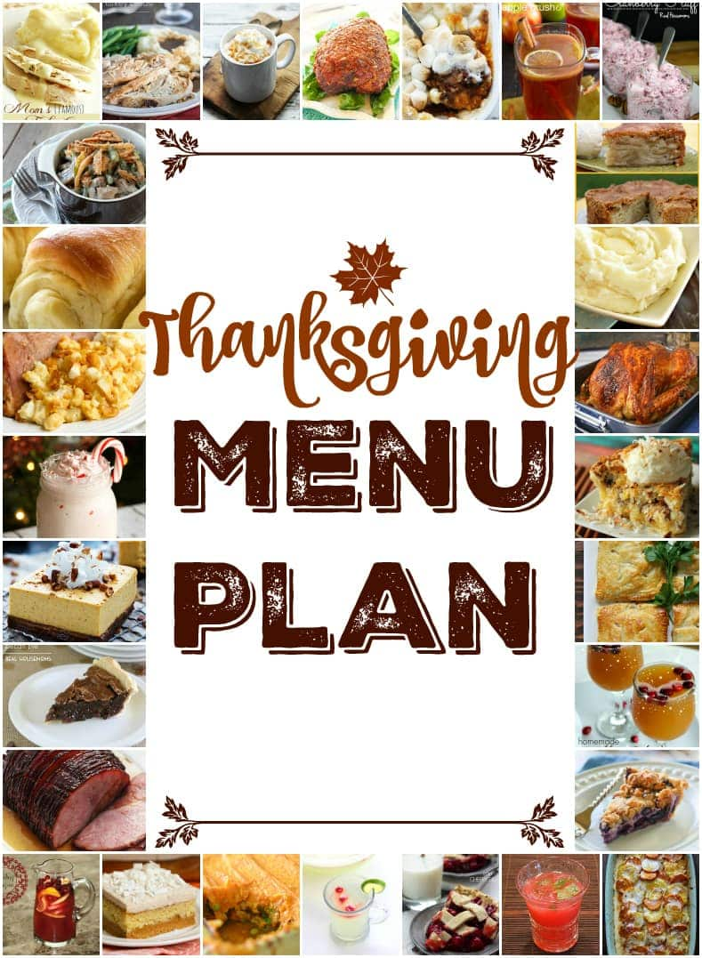 Thanksgiving Menu Plan - a great collection of Thanksgiving recipes from main dish to side dish and dessert. This Menu Plan has you covered!