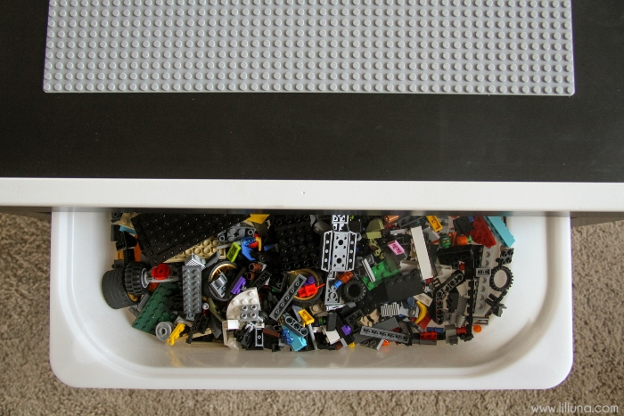 Lego Table with storage bin underneath