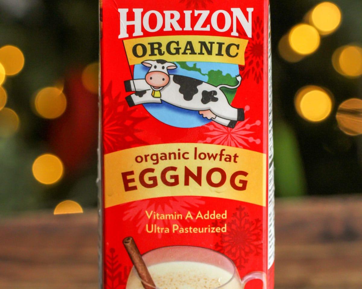 Horizon Eggnog used in eggnog milkshakes.