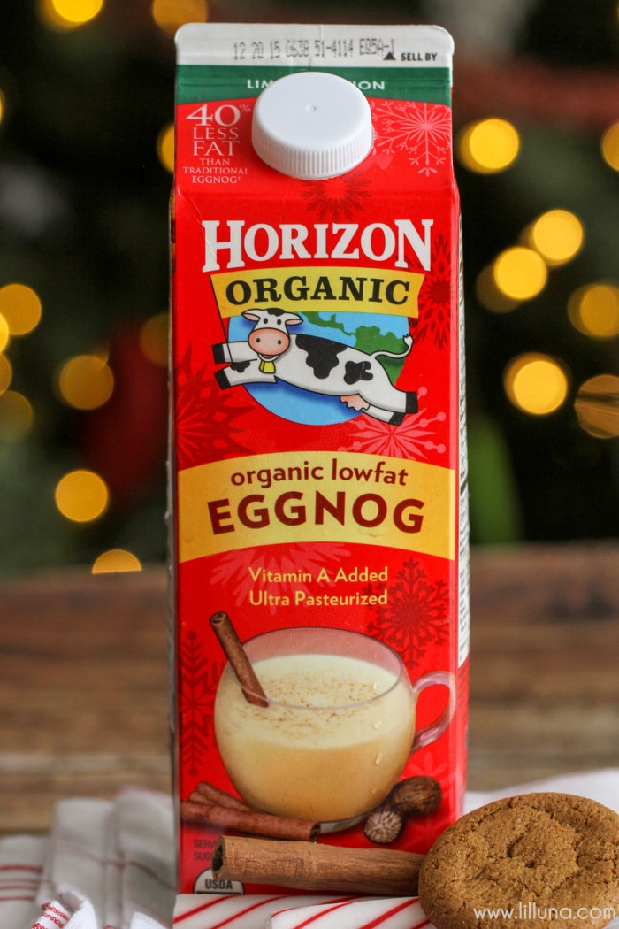 Eggnog Milkshakes - a simple, quick and delicious holiday treat the whole family will enjoy!