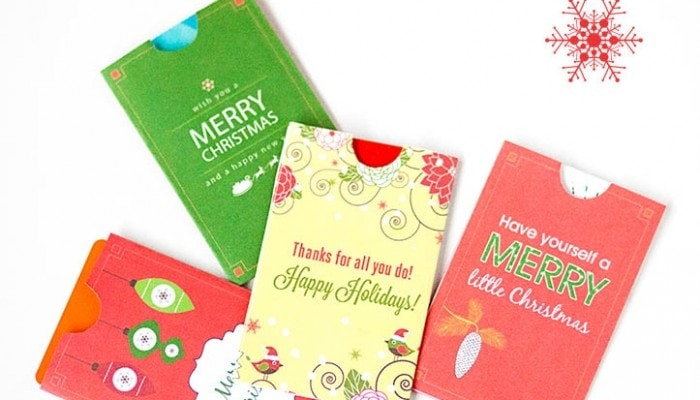 Free Printable Holiday Gift Card Holders