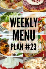 Weekly Menu Plan 23