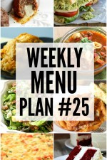 Weekly Menu Plan 25