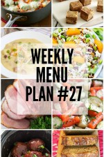 Weekly Menu Plan 27
