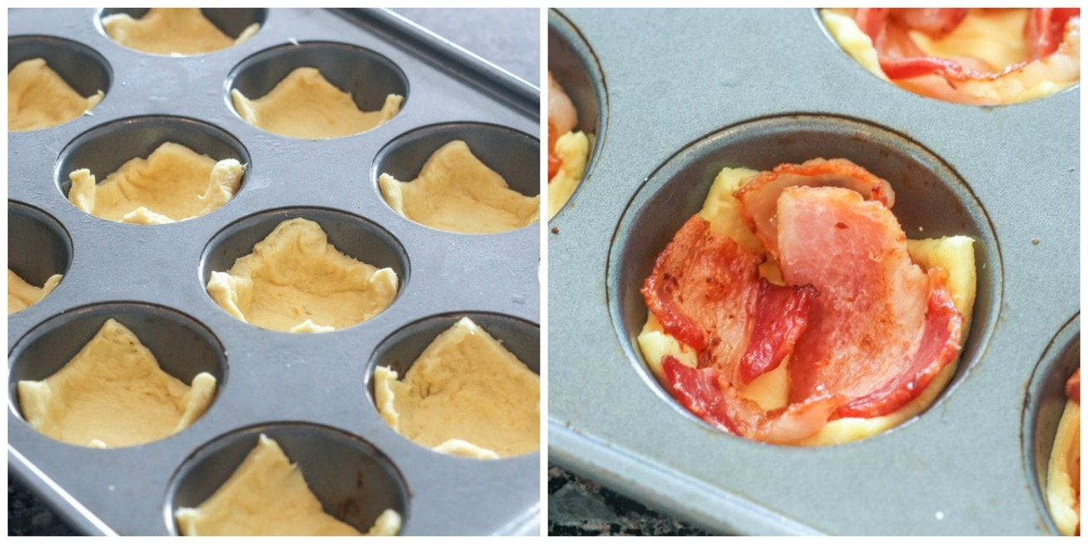 How to Make Egg Cups - in muffin tin