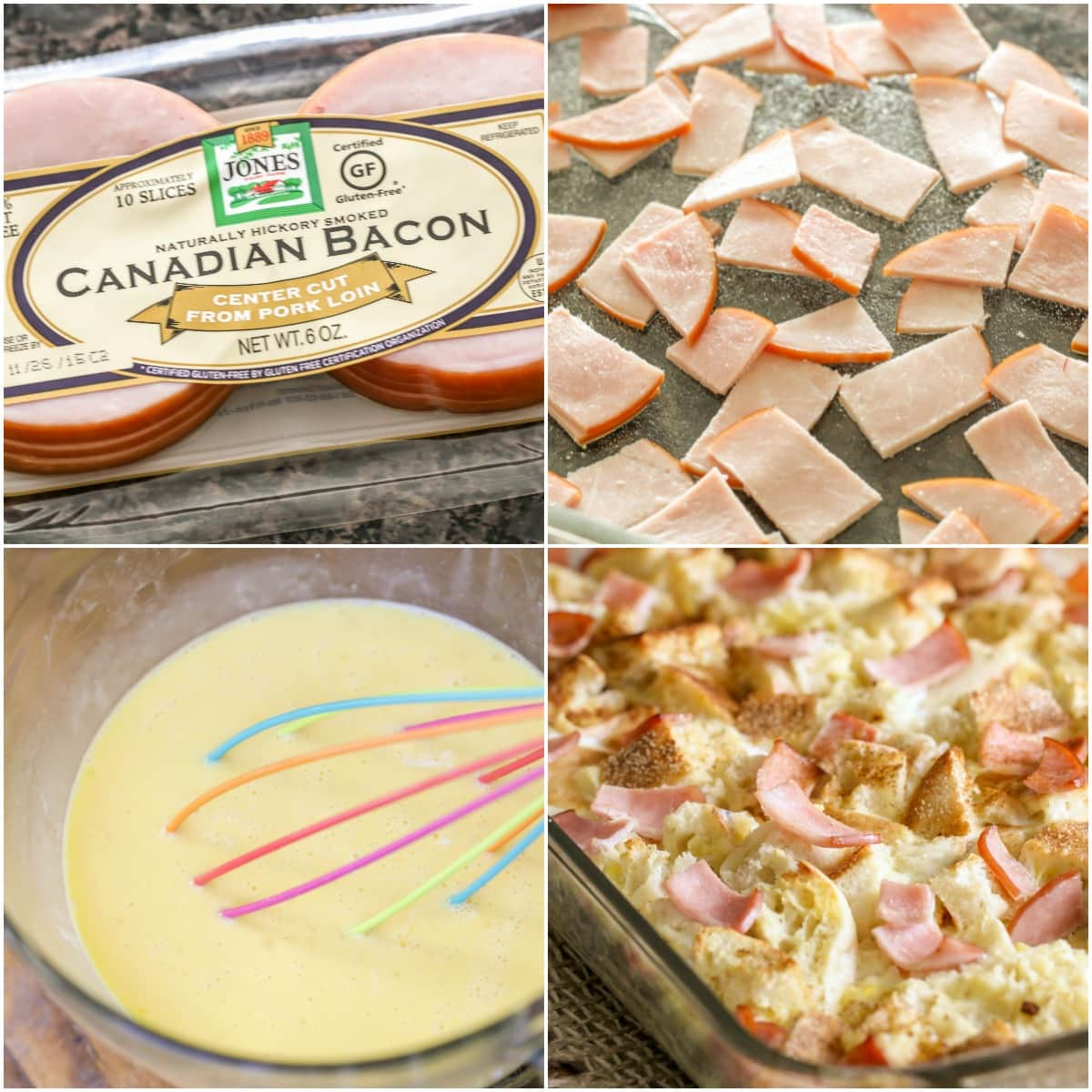 How to make eggs benedict casserole process pics