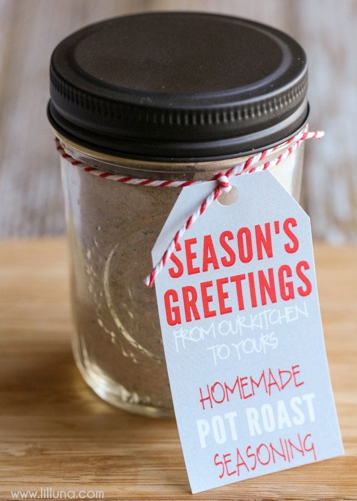Pot Roast Seasoning Recipe + Gift Idea! Comes with FREE printable tags.