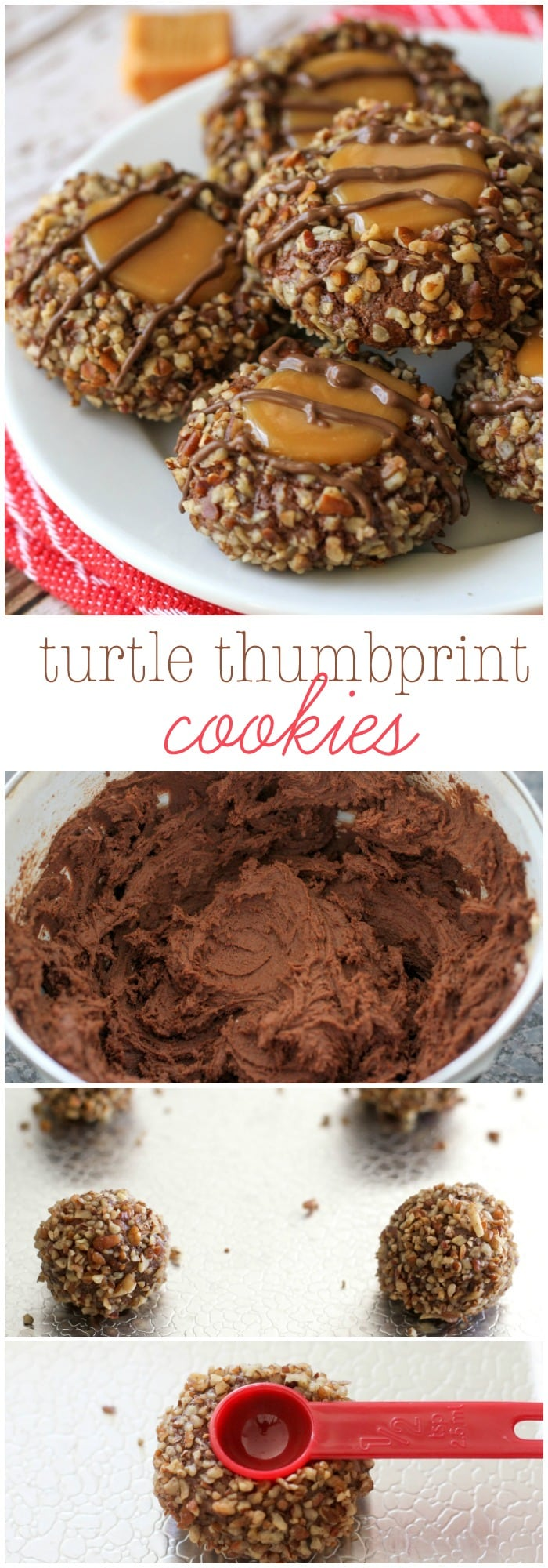 Turtle Thumbprint Cookies - a chocolate, caramel and nut cookie ...