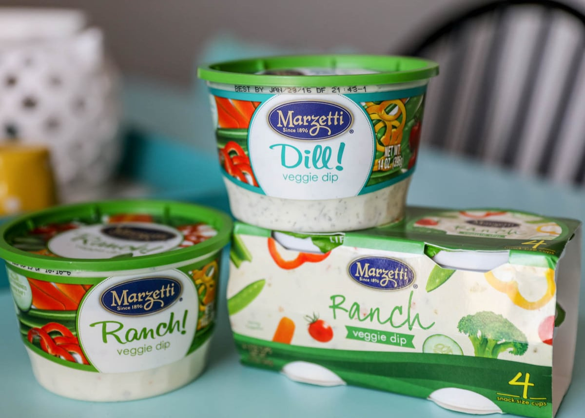 Marzetti ranch and dill dip in containers