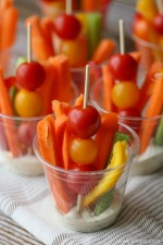Veggie Cup Appetizers