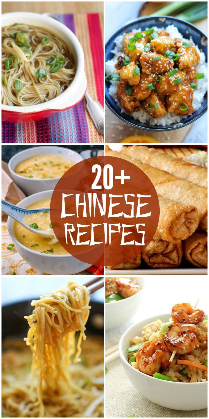 A roundup of 20+ DELICIOUS Chinese food recipes, just in time for the Chinese New Year. Chicken, soup, egg rolls, and so many more delicious recipes!