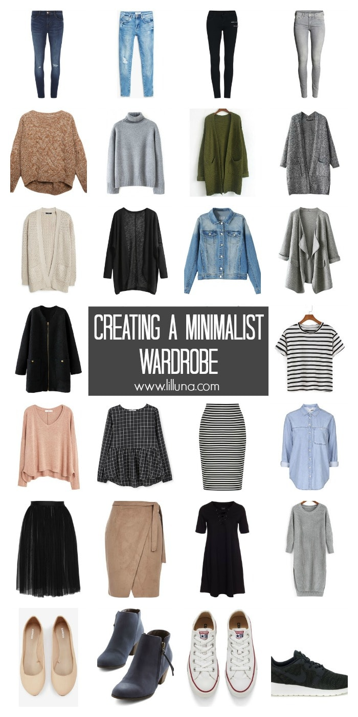 De-Cluttering your Closet - tips and tricks to help you create a minimalist wardrobe.