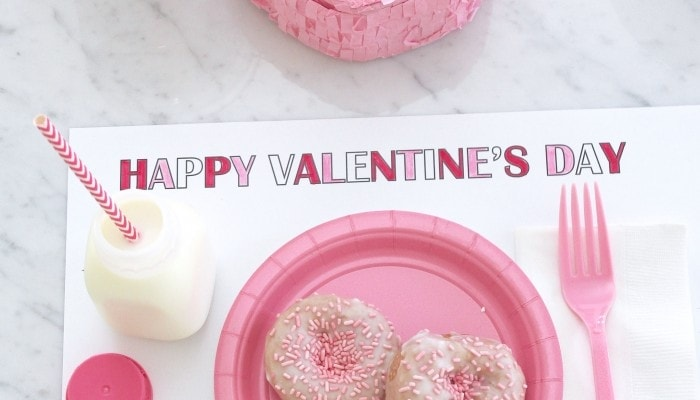 Printable Valentines Placemat