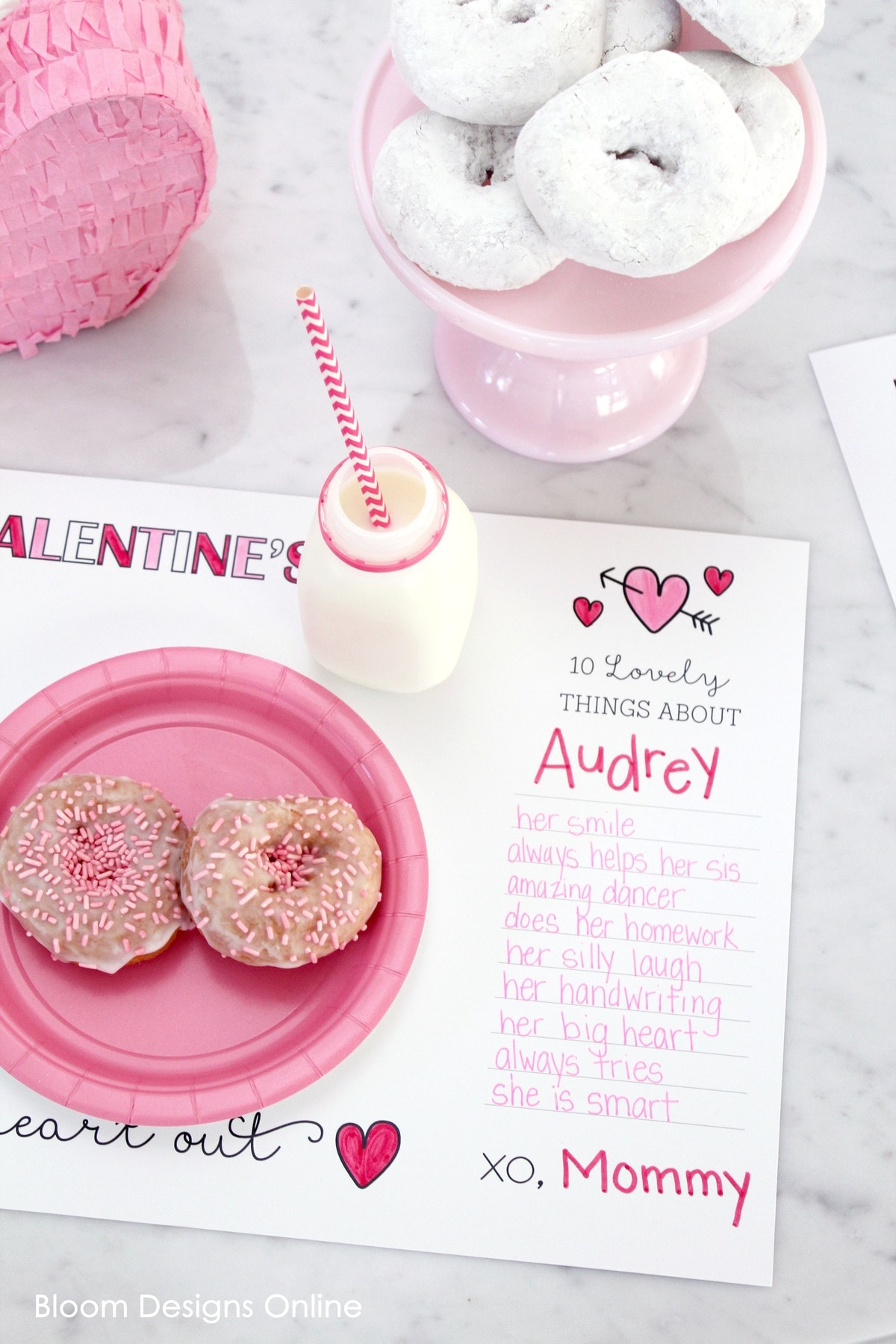 Valentines By Kylie Cosmetics: Printable Valentines Placemat
