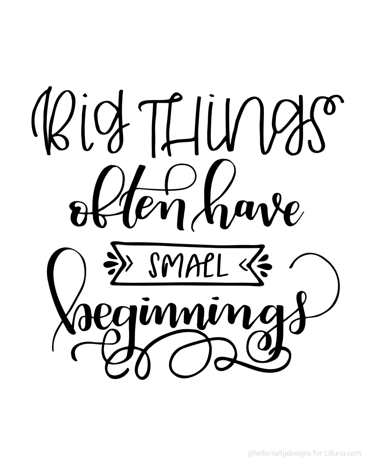 Big things often have small beginnings - LOVE this quote!! Get the ...