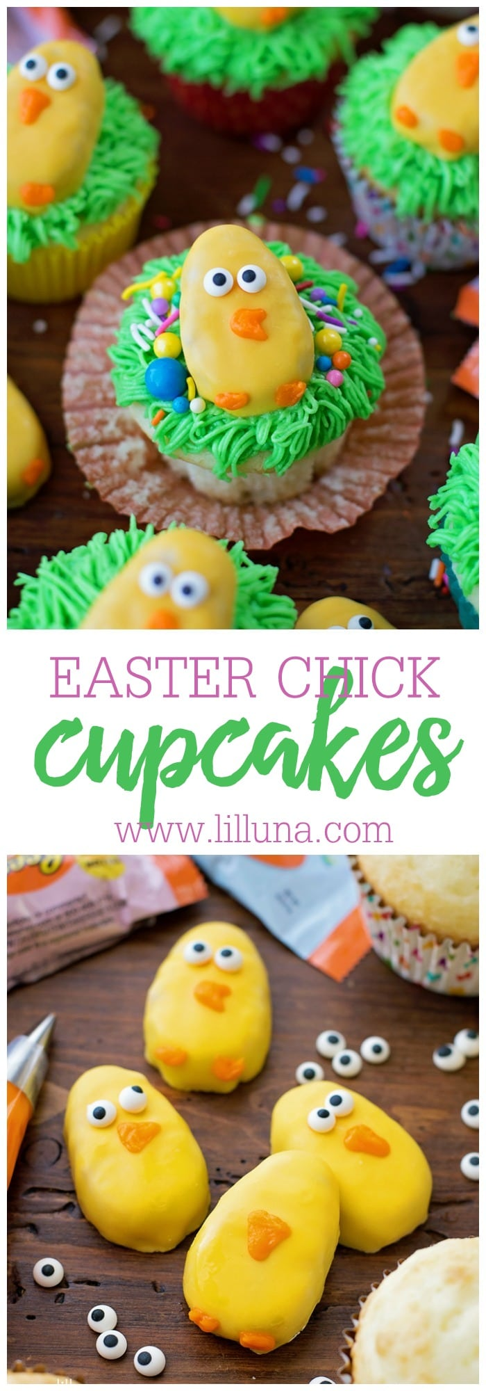 Easter Chicken Cupcakes - the cutest and most simple Easter treat!!