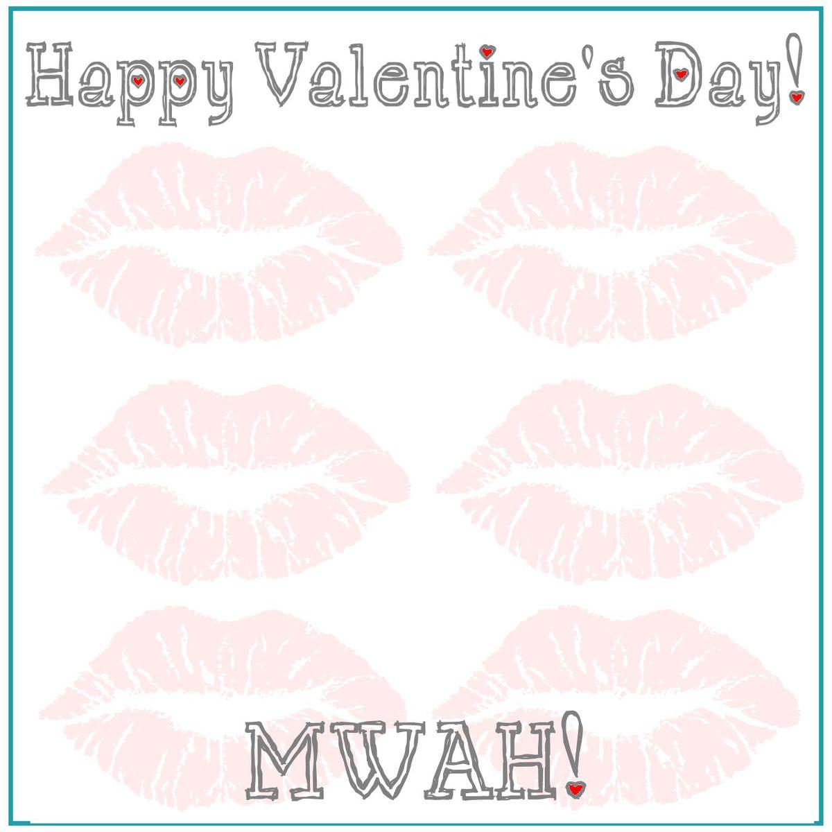 Valentine's Gak Lips Print