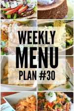 Weekly Menu Plan 30