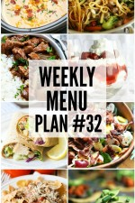 Weekly Menu Plan 32