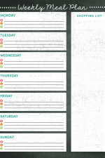 Weekly Meal Planner Printable + Grocery List