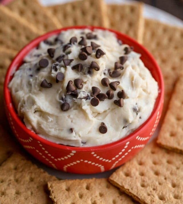 chocolate chip dip in bowl