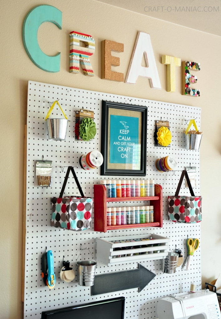 Craft room organization ideas lil 39 luna for Room organization