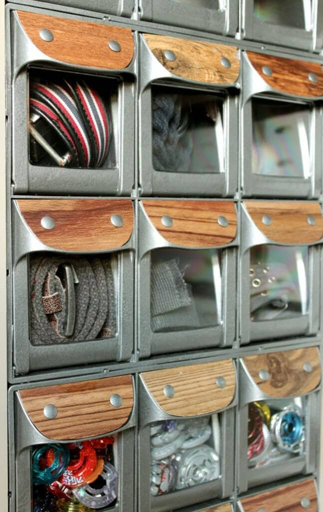 flip-out bins from the container store with industrial look3