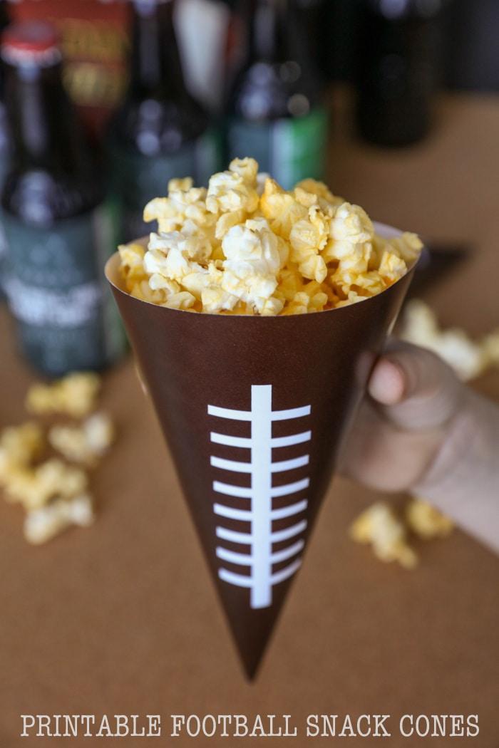 PRINTABLE Football Snack Cones