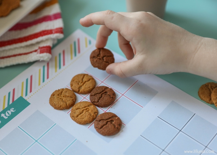 tic tac toe with cookies