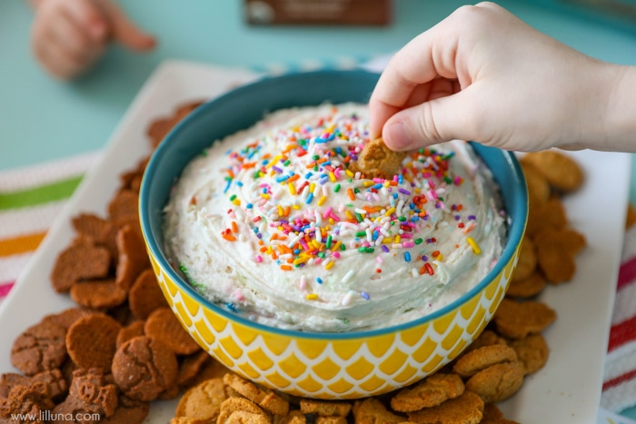 Funfetti Dip - takes a minute to make and is DELICIOUS!!
