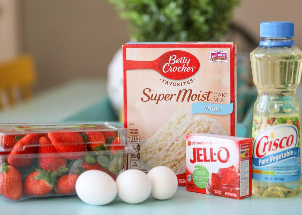 Strawberry sheet cake ingredients