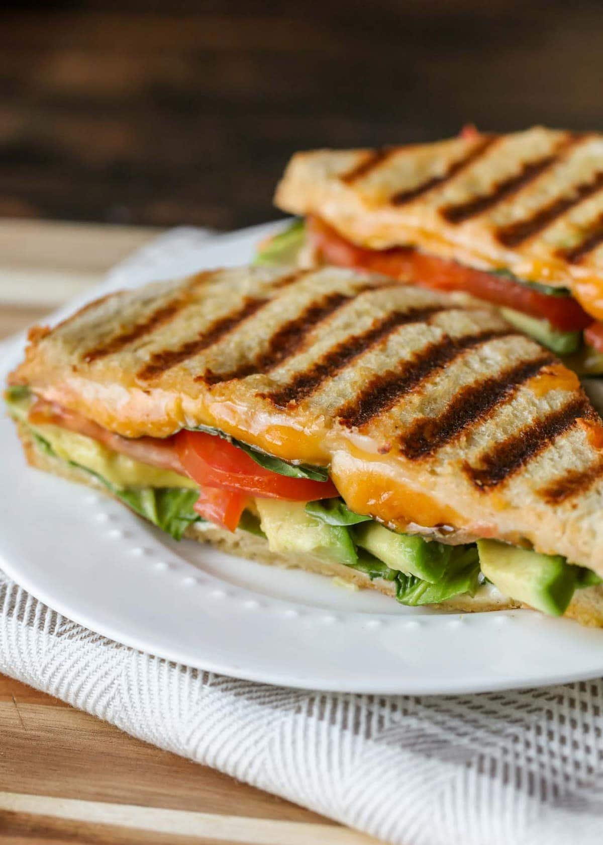 Veggie Panini with grill marks