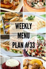 Weekly Menu Plan 33
