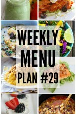 Weekly Menu Plan 29