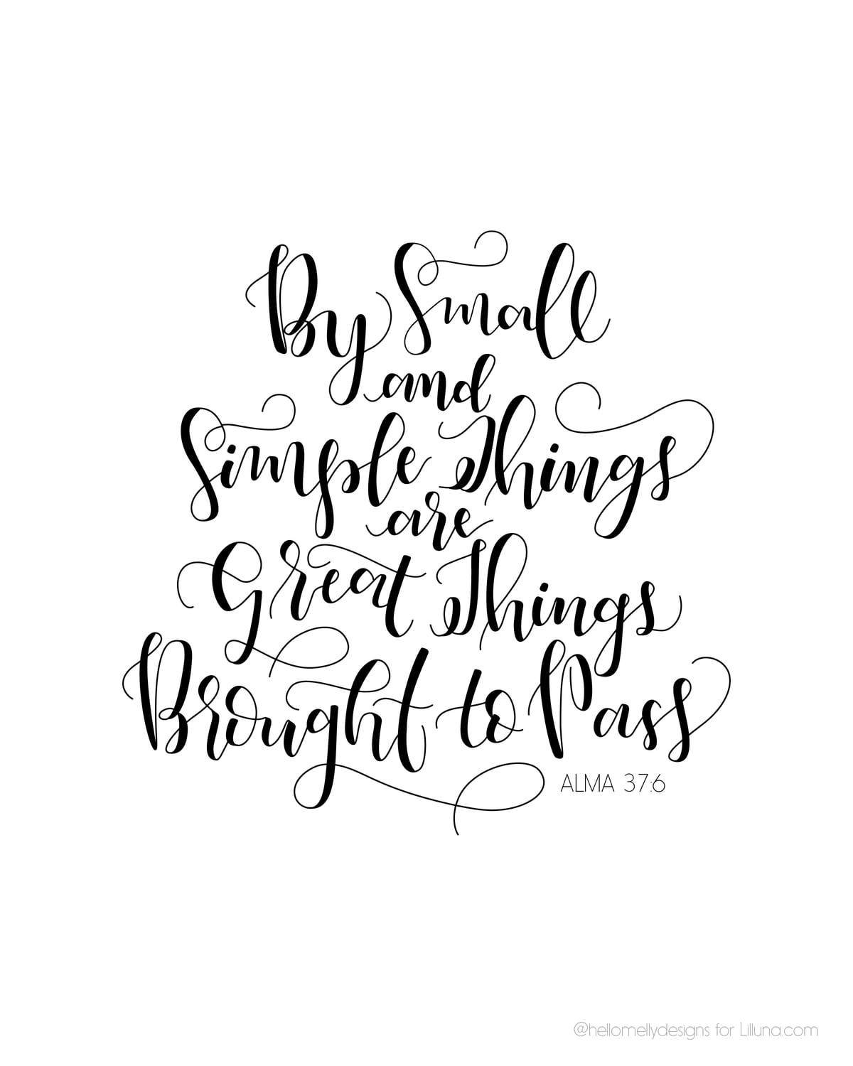By Small And Simple Things Print