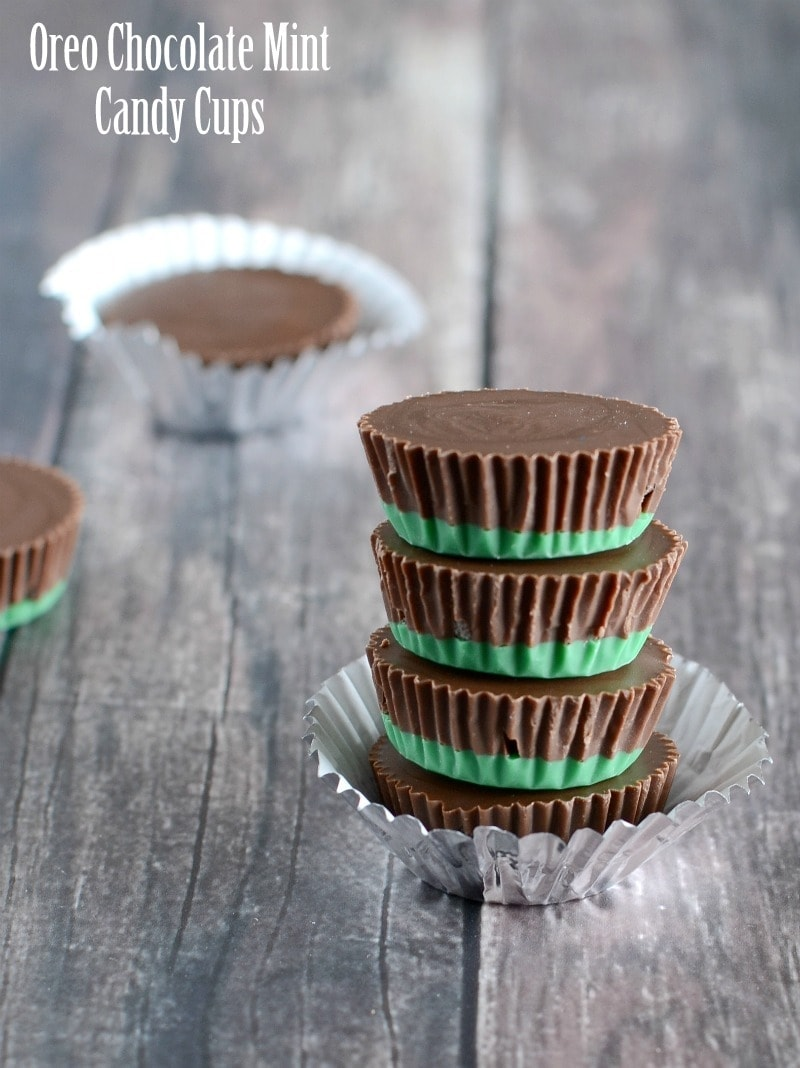 Oreo Chocolate Mint Candy Cups - Lil' Luna