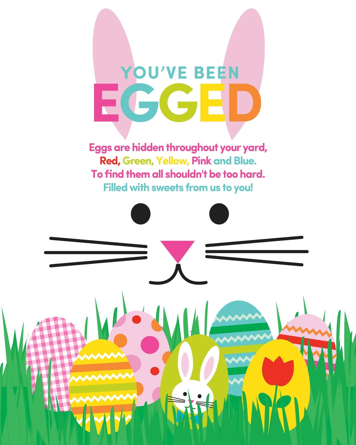 image about You've Been Egged Printable named Youve Been Egged Printable - Lil Luna