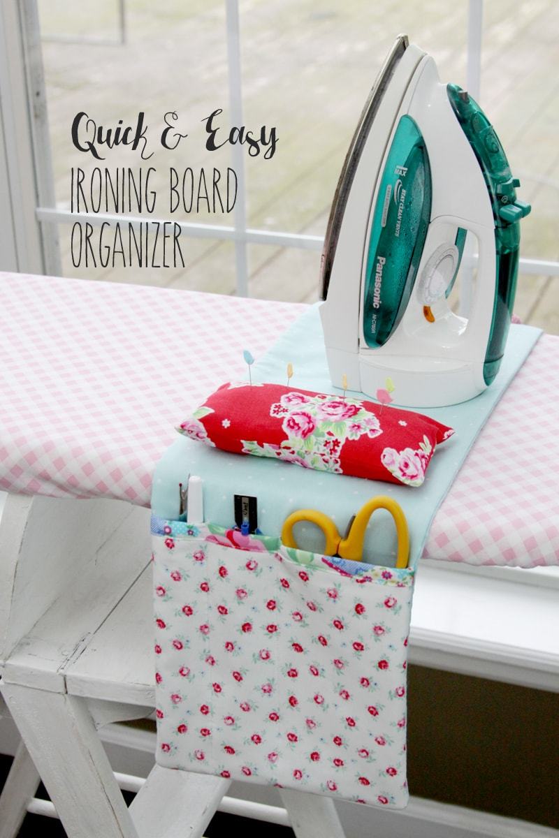 quick and easy ironing board organizer lil 39 luna. Black Bedroom Furniture Sets. Home Design Ideas