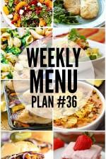 Weekly Menu Plan 36