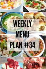 Weekly Menu Plan 34