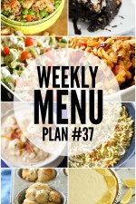 Weekly Menu Plan 37