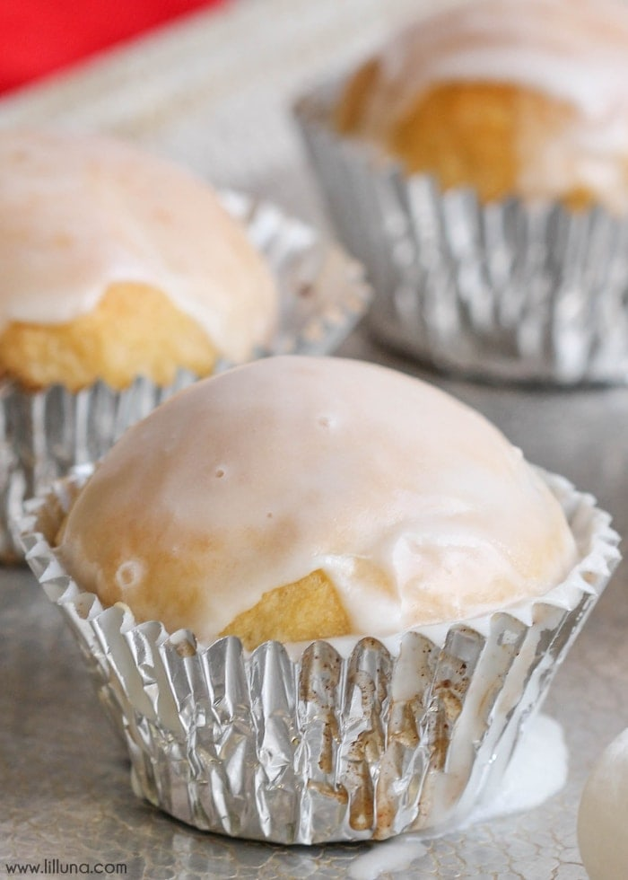 Marshmallow Meltaways - a soft and doughy treat stuffed with marshmallows and topped with a delicious glaze!