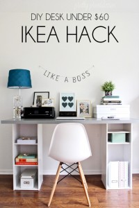 IKEA Hack desk under $60 at prettyprovidence.com
