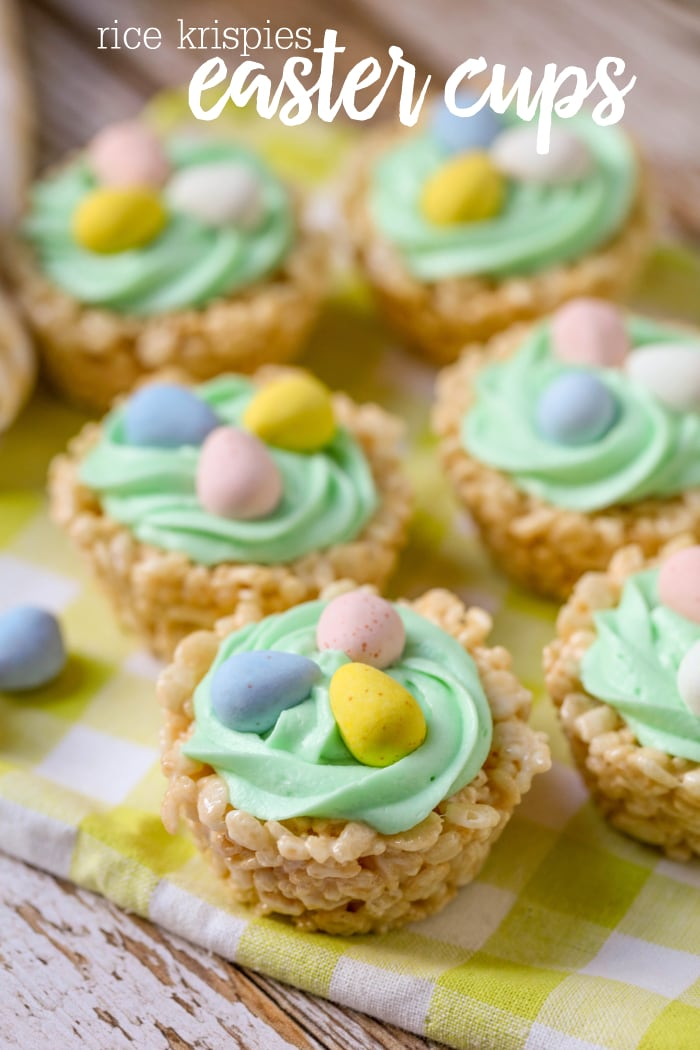 Rice krispies easter cups a cute and simple treat to make this