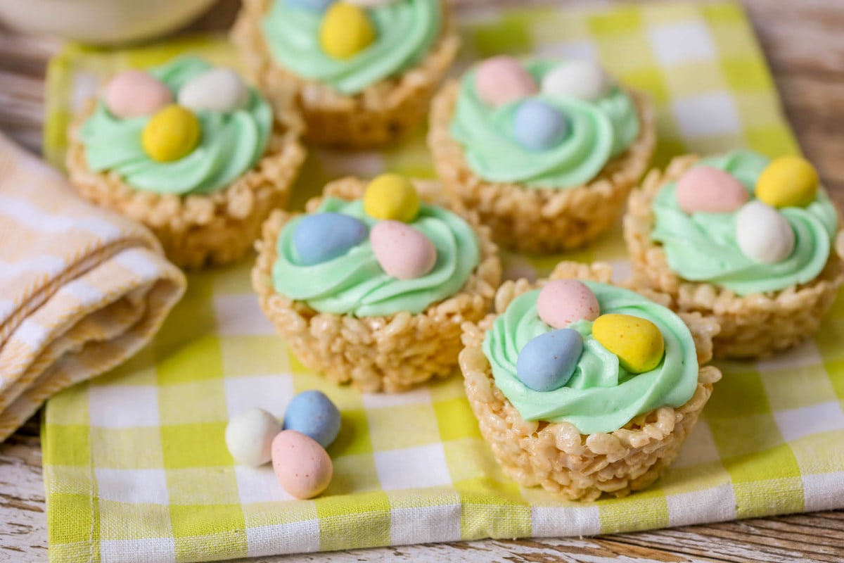 Rice Krispie Easter Nests Video Lil Luna