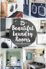 15+ Beautiful Laundry Rooms sure to inspire you for your own laundry room! { lilluna.com }