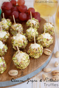 Cheese Grape and Pistachio Truffles by Delightful E Made